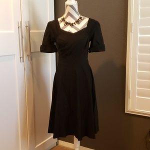 NWT Black Vintage style short sleeve dress